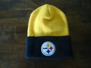 NFL winter knit hat beanie tobaggan Pittsburgh Steelers EXCELLENT cond US made
