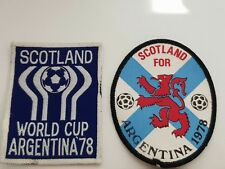 2 VINTAGE/RETRO CLOTH PATCH EMBROIDERED BADGE SCOTLAND WORLD CUP ARGENTINA 1978