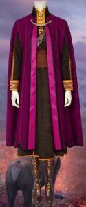 Anna Frozen 2 Cosplay Costume e Parrucca Ragazza Adulto Disney Regno di Ghiaccio