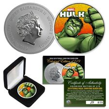 2019 1 TROY OZ Pure Silver BU Marvel Comics HULK Coin Limited & Numbered of 219