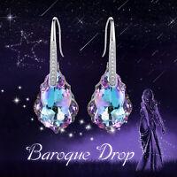 HYPOALLERGENIC Stud Earrings  Swarovski Elements Crystal in Aurora Borealis AB