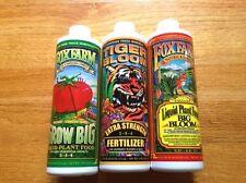 Fox Farm Soil Trio Nutrients Bundle, Big Bloom, Grow Big, Tiger Bloom Pint 16oz