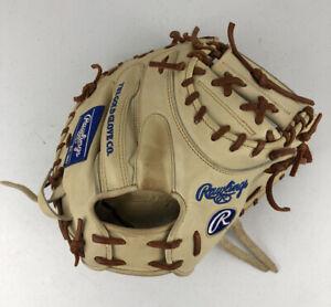 "Rawlings Heart of the Hide R2G 34"" Baseball Catchers Mitt - PRORCM41C RHT White"