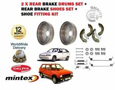 FOR YUGO ZASTAVA FLORIDA SANA MIAMI 1989--> REAR BRAKE 2 x DRUMS + SHOES + KIT