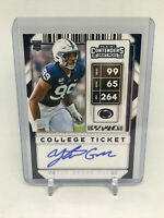 2020 Contenders Draft Picks YETUR GROSS-MATOS AUTO College Ticket #163 PANTHERS