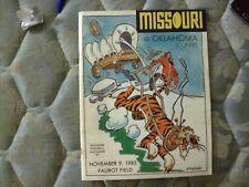 1985 OKLAHOMA SOONERS MISSOURI TIGERS PROGRAM Football OU NAT CHAMPS! College AD