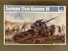 TRUMPETER 1/35 WW II GERMAN 17cm KANONE PLASTIC MODEL KIT # 02313 FACTORY SEALED