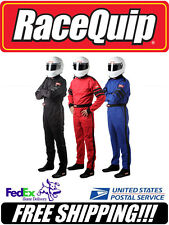 RaceQuip BLACK XL Extra Large SFI 3.2A/1 1-Layer Racing Race Driving Suit 110006
