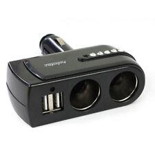 2 WAY MULTI SOCKET CAR CIGARETTE CHARGER LIGHTER EXTENDER SPLITTER USB DC 12V