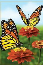 """Elegant Monarch Butterfies House Size (28"""" x 40"""" Approx) Flag PR 52815"""