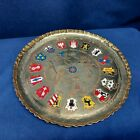 Vintage German Collector's Metal Handmade Tray w/Map & Cities  in Germany