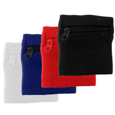 4 Piece Breathable Wristband Armband Pouch Hide Money Id Card for Outdoor Sports