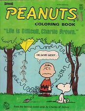 Peanuts Coloring Book Life is Difficult Charlie Brown Saalfield #4560 1968