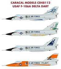 Caracal Models 1/48 decal  USAF F-106A Delta Dart for Trumpeter Kit - CD48112