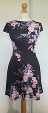 Lipsy Floral Dress 10 Excellent Condition
