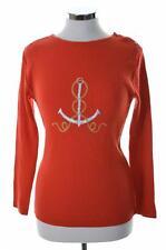 Iceberg Womens Jumper Sweater Size 46 Medium Orange Wool Cotton