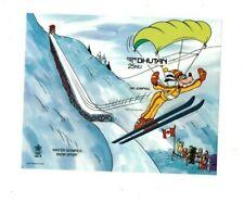 Bhutan 1988 - DISNEY WINTER OLYMPICS - IMPERF SOUVENIR SHEET #2 - MNH