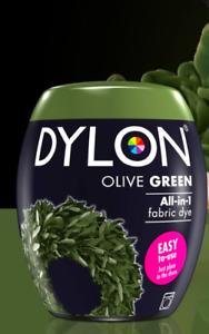 DYLON Fabric Machine Dye Pod OLIVE GREEN  350g Cotton Wool - Natural Fibres