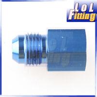 "-6 AN AN6 Male Thread To 1/8"" NPT Female Straight Aluminum Adaptor Fitting Blue"