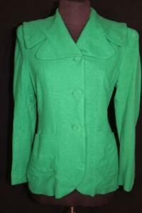 VERY RARE VINTAGE 1940'S GREEN WOOL FITTED JACKET SIZE  MEDIUM