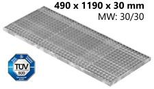 Gitterrost Normrost verzinkt Lichtschacht 490x1190x30 mm mw30x30 mm Stahl S235JR