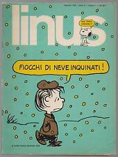 LINUS 1 anno IX 1973 peanuts valentina crepax mort walker corto maltese pratt