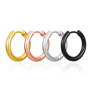 1Pair Titanium Steel Ear Stud Earrings Anti Allergy Curved Hoop Earrings Unisex