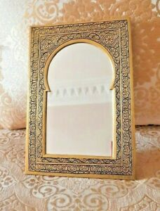 Brass Artisanal Handmade Engraved Mirror With Andalus Islamic Style
