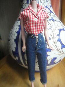 Original Mattel Barbie Clothes 1959 PICNIC # 967 GC Black Label