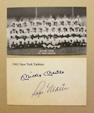 "( Lot of 100 ) 1961 Yankees Team 3""X5"" ACEO Mickey Mantle &Roger Maris Autograph"