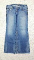 American Eagle Women's Boyfriend 77 Distressed Blue Jeans Size 12 Short Stretch