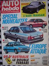 auto-hebdo 1987 VOLVO 760 GLE / ALFA ROMEO MONTREAL / PESCAROLO /SUPERPRODUCTION