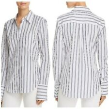 Theory Button Down Slim Collared Blue White Stripe Shirt Workwear Atticus Small