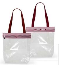 R42 Texas A&M NCAA Licensed Clear Stadium Zip Top Tote Purse Bag NWT