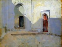 PAINTING LANDSCAPE SARGENT COURTYARD TETUAN MOROCCO REPLICA POSTER PRINT PAM2117