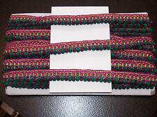 1M velluto Pearl e Pompon Pompon Trim Trim Frange Nappa Verde Viola Oro Multifunzione