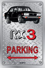 Parking Sign Metal MazdA RX3 4-door-19 - Checkerplate Look