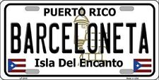 BARCELONETA PUERTO RICO NOVELTY STATE BACKGROUND METAL LICENSE PLATE