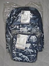 NEW Pottery Barn Kids LARGE Dinosaur Dino GLOW-in-the-DARK Backpack + Lunch Bag!