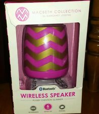 NIB Macbeth Collection Portable Wireless Bluetooth Speaker Pink & Gold