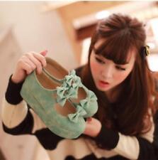 Fashion Womens Round Toe Platform Wedge Heels Mary Jane Lolita Shoes Plus size