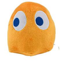 "NAMCO 7"" PAC MAN Ghost CLYDE Orange Stuffed Plush Video Game Bandai Toy Factory"