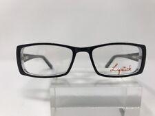 Lip Stick Eyeglasses 52-17-140 Fashion Fix Black Crystal E190