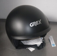Grex Helm Motorradhelm Jethelm DJ1 Gr. L schwarz matt