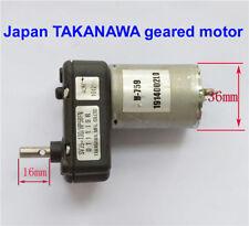 DC 6V 12V 24V Japan TAKANAWA Metal Gear Motor Geared Motor Generator #M2299 QL