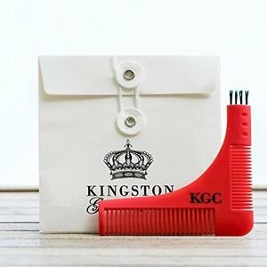 NEW Beard and Goatee Shaping Tool and Styling Template Comb with Travel Envel...