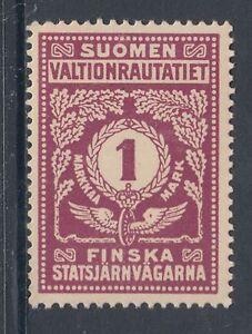 Finland HS 45B MLH. 1918 1m State Railway Tax Stamp