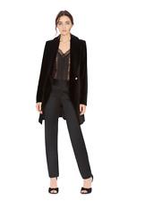 NWT Alice + Olivia Velvet Vance Black Crossover Coat Size XS