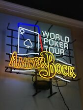 Michelob Amber Bock Beer World Series Poker Tour Neon Sign With 4 Colors