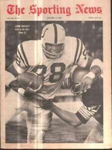 The Sporting News Newspaper Jan 11, 1969 Colt on the Bolt John Mackey